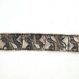 Bracelet relief composition silver