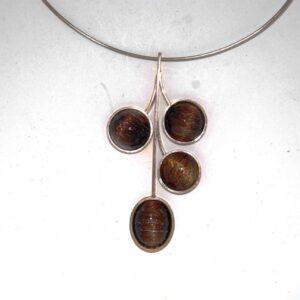 Rutil quarz pandanr Nacklaces silver