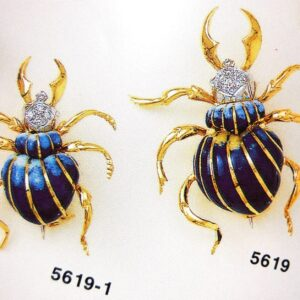 Brooche Beetle symbolic jewellery selection with Enamel in Gold K18 handmade Price by sending an E mail the Nr. of the project