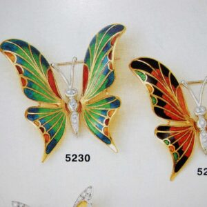 Brooche Butterfly symbolic jewellery selection with Enamel in Gold K18 handmade Price by sending an E mail the Nr. of the project