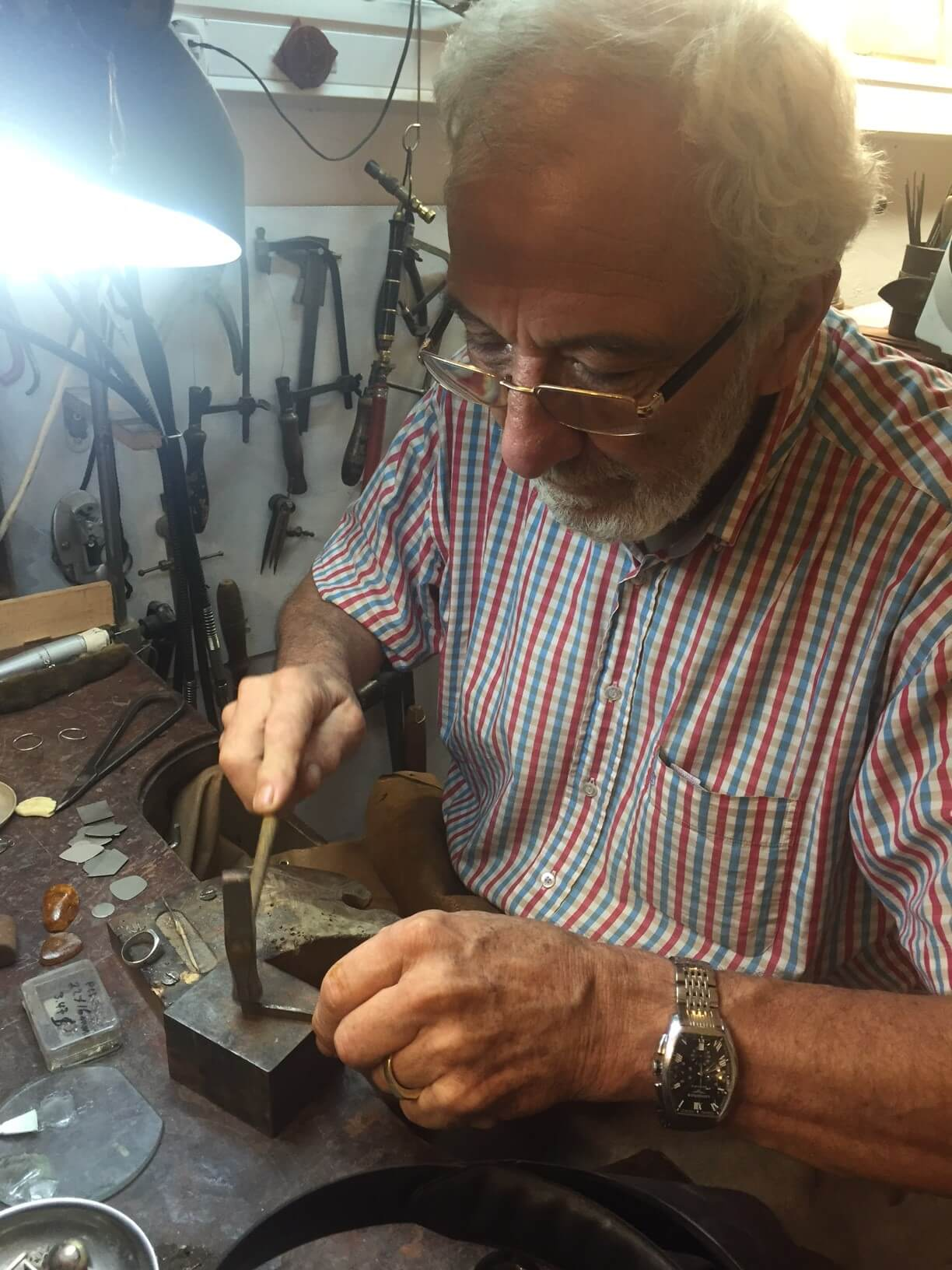 Nikos VASSILARAS Jewellery Creationsat-the-workshop-jewellery-creations