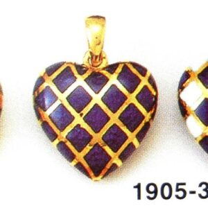 Pendant symbolic jewellery Heart selection with Enamel in Gold K18 handmade Price by sending an E mail the Nr. of the project (2)