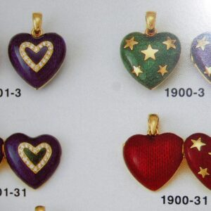 Pendant symbolic jewellery Heart selection with Enamel in Gold K18 handmade Price by sending an E mail the Nr. of the project