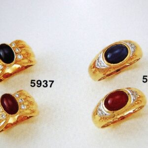 Rings in Gold K18 with Rubys or Sapphire DiamondsPrice by sending an E mail the Nr. of the project